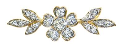 Queen Mary's Stomacher Brooch - Gold Plated with Swarovski Elements