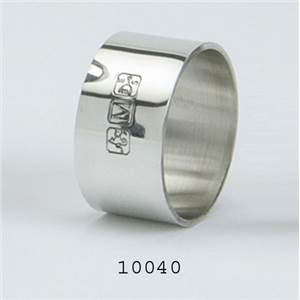 Pewter Serviette Ring with Fancy Touch Marks Design - EBP-10040 by Edwin Blyde.