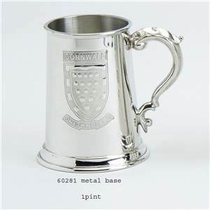 1 Pint Pewter Tankard with Cornwall Scene - EBP-60281 by Edwin Blyde.