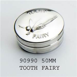 Pewter Childrens Box, 50mm Tooth Fairy - EBP-90990 by Edwin Blyde.