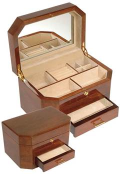 Woodford Veneered Jewellery Box with Piano Finish