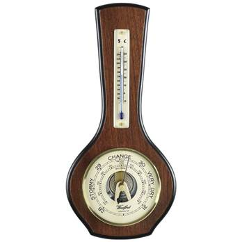 Veneered Barometer and Thermometer - 1601