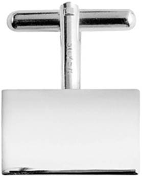 Sterling Silver Rectangle T-bar Cufflinks