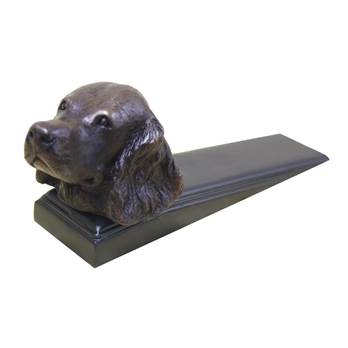 Bronzed Spaniel Head Door Wedge