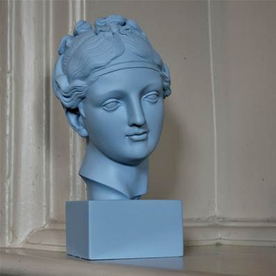Classical Lady Head - Blue - reproduction of model by Rudolph Schadow