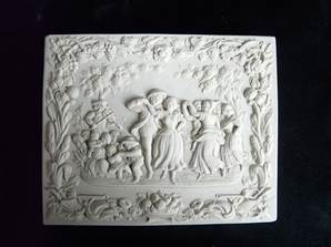 Harvest Party Plaque - Hand Made in Gypsum Plaster in the UK