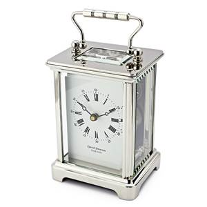 Obis Style Chrome Plated Brass Carriage Clock - DP/OBS