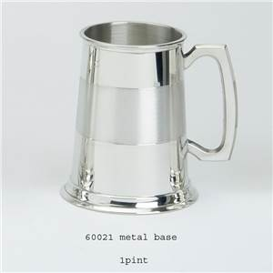 1 Pint Pewter Tankard with Satin Style Band - EBP-60021 by Edwin Blyde.