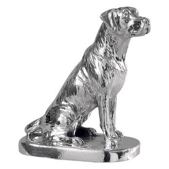 Sterling Silver Labrador Model of a Labrador Sitting - HBH-8291