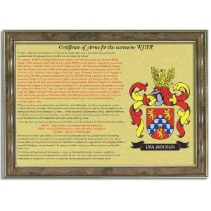 Personalised Certificate of Arms