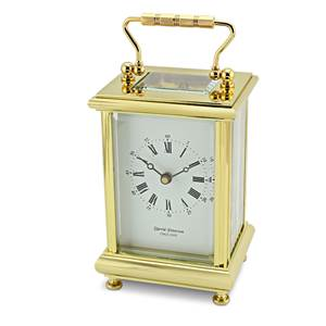Boite Style Brass Carriage Clock with Bekk Strike Movement - DP/BT/SK