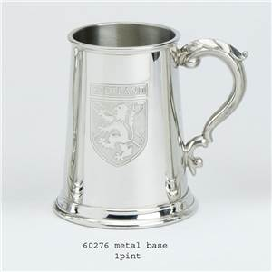 1 Pint Pewter Tankard with Scotland Badge - EBP-60276 by Edwin Blyde.