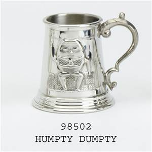 Pewter Child's Can with Humpty Dumpty Design - EBP-98502 by Edwin Blyde.