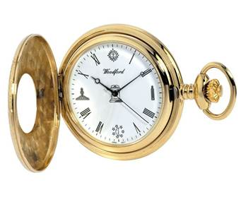 Woodford Half Hunter Gold Plated Masonic Pocket Watch 1213