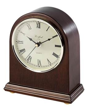 Mantel Clock - Norman Arch Design with Quartz Movement, Second Hand and Roman Numerals