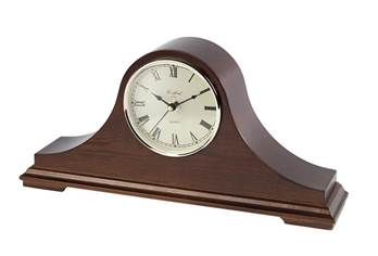 Mantel Clock - Napoleon Hat Style Design with Quartz Movement, Second Hand and Westminster Chimes