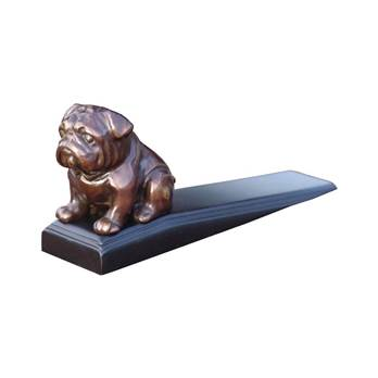 Bronzed Bulldog Door Wedge