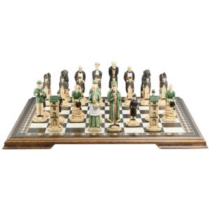 "Sherlock Holmes Hand-painted 5"" King Size Chess Set"