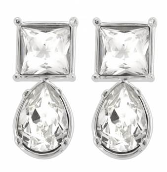 Cullinan Earrings Reproduction Silver Plated with Swarovski elements.