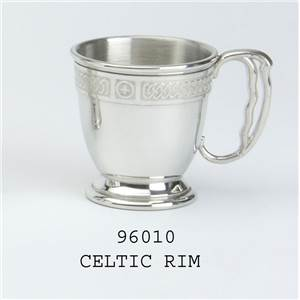 Pewter Children's Beaker with Handle in Celtic Design - EBP-96010 by Edwin Blyde.