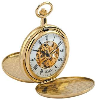 Woodford Twin Lid Exposed Movement Mechanical Pocket Watch