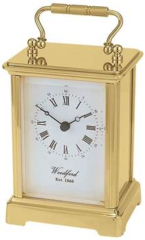 Obis Solid Brass Carriage Clock with Quartz Movement - Woodford