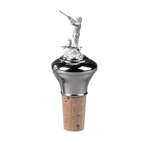 Sterling Silver Bottle Cork with Shooting Model