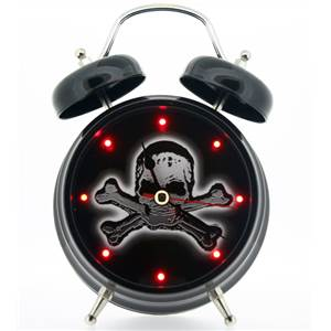 Skull and Crossbones Alarm Clock with Sound - IMP122