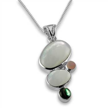 Sterling silver shell pendant Handmade Gift Boxed