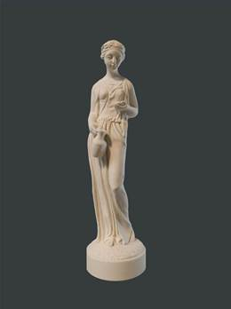 Roman Lady Figure - Hand crafted in Gypsum Plaster in the UK
