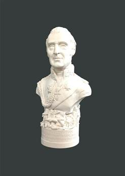 Bust of The Duke of Wellington - Hand crafted in Gypsum Plaster in the UK