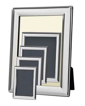 Silver Plated Photoframe with Bevel Edging