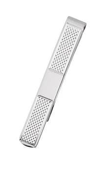 Patterned Sterling Silver Tie Bar