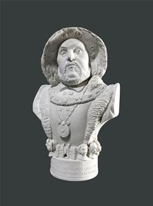 Bust of Henry V111 - Hand crafted in Gypsum Plaster in the UK
