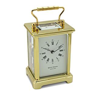 Obis Style Brass Carriage Clock with Bell Strike Movement- DP/OB.SK