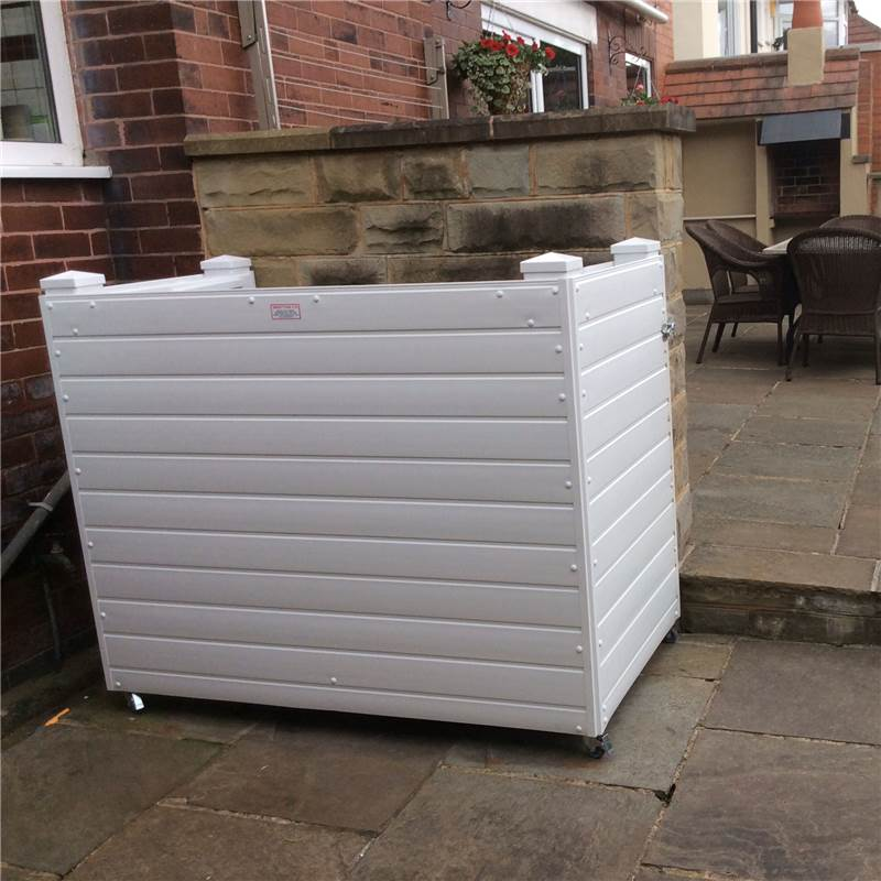 ... Triple Wheelie Bin Screens in Choice of Colours and Bin Sizes - Delivered Assembled - Rubber ... & triple wheelie bin screens / pens in high quality wipe clean ...