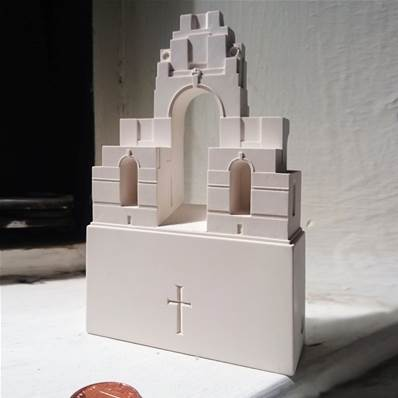 Thiepval Memorial of Battle of the Somme Model in Gypsum Plaster