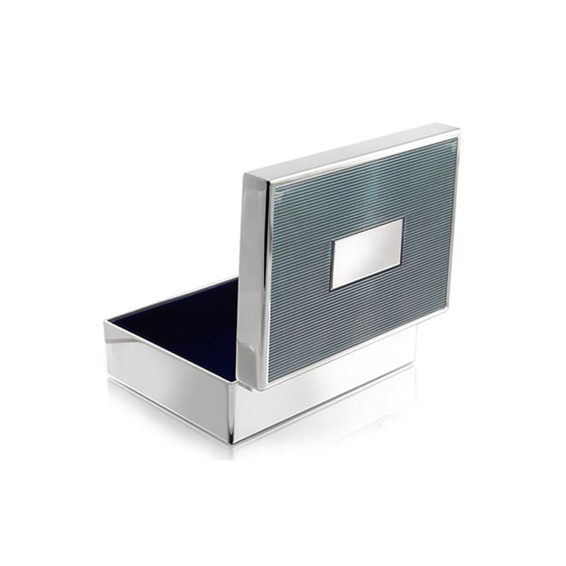 Silver Plated Box with Grey Enamel