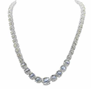 The Coronation Necklace Reproduction Jewelery Silver Plate& Swarovski Crystals