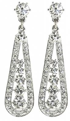 Queen Mary Arch Earrings - Slver Plated with Swarovski Elements