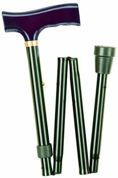 Traditional Folding Walking Stick - Black