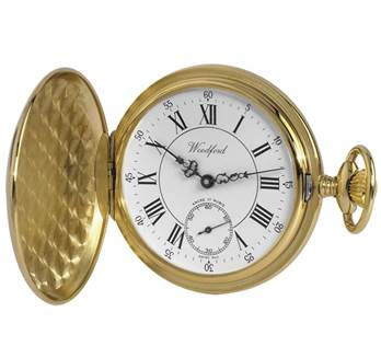 Woodford Full Hunter Polished Roman Full Size Pocket Watch