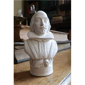 Bust of Shakespeare - Hand crafted in Gypsum Plaster in the UK
