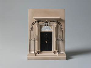 10 Downing Street - Model of the Doorway in Fine Gypsum Plaster