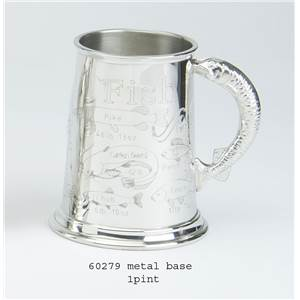 1 Pint Pewter Tankard with Fish Record Design - EBP-60279 by Edwin Blyde.