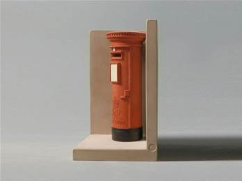 'Red Post Box' Model as Bookend