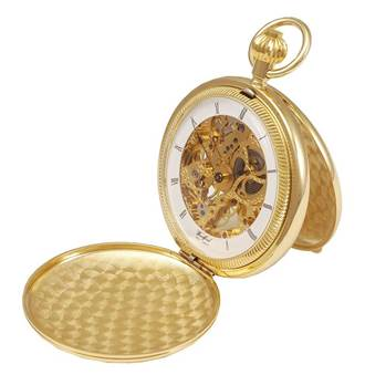 Woodford Gold Plated Twin Lid Mechanical Full Size Pocket Watch