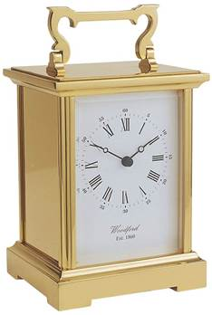 Quartz Carriage Clock solid Brass Case GRANDE size - 1459 - Woodford
