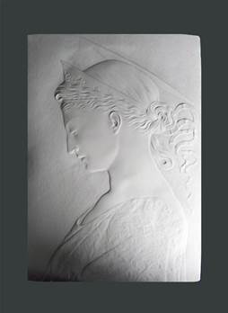 St.Cecilia Plaque - Hand crafted in Gypsum Plaster in the UK