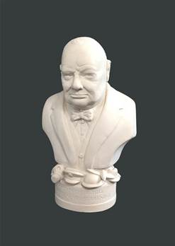Bust of Winston Churchill - Hand crafted in Gypsum Plaster